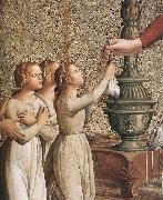 ANTONIAZZO ROMANO Annunciation (detail)  hgh oil painting artist